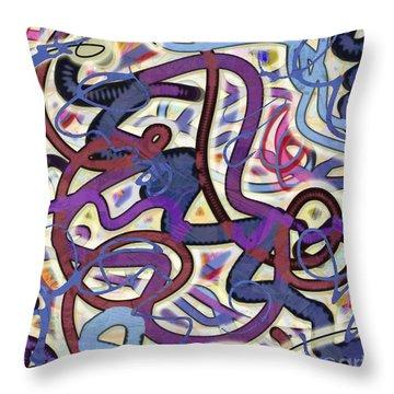 Throw Pillow featuring the digital art Dancing P by Gabrielle Schertz