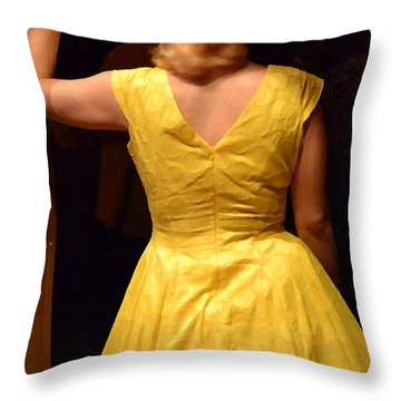 Throw Pillow featuring the photograph Dancing Queen II by Carlee Ojeda