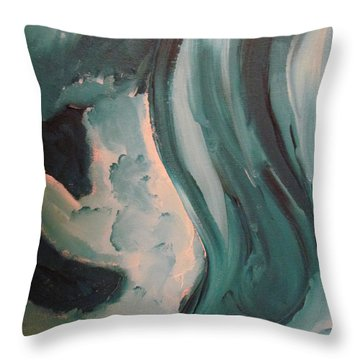Dancing Throw Pillow by Shea Holliman
