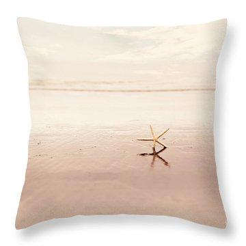 Dancing Starfish Beach Photograph Throw Pillow by Sylvia Cook
