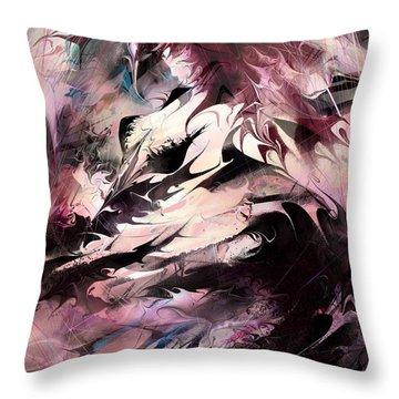 Dancing The Black Dress Throw Pillow by Rachel Christine Nowicki