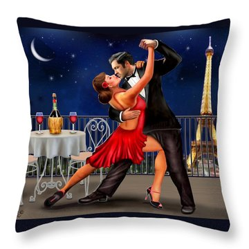 Dancing Under The Stars Throw Pillow by Glenn Holbrook