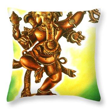 Dancing Vinayaga Throw Pillow