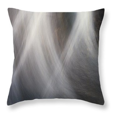 Throw Pillow featuring the photograph Dancing Water by Kathy Bassett