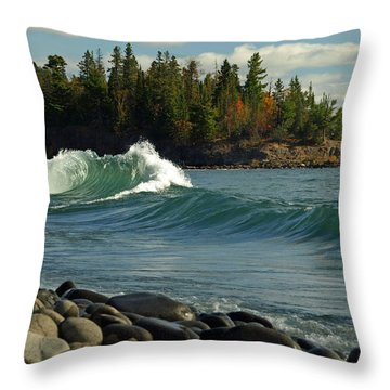 Throw Pillow featuring the photograph Dancing Waves by James Peterson