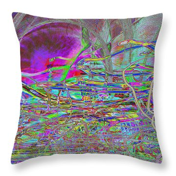Dancing With Lights Throw Pillow