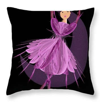 Dancing With The Moon A Throw Pillow by Andee Design