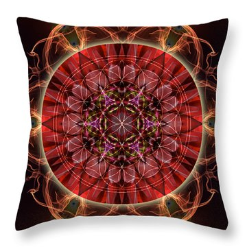 Dancing With The Solar Flares Throw Pillow