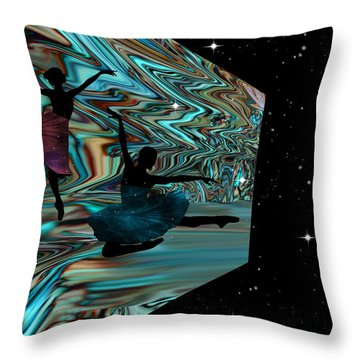 Dancing With The Stars-featured In Harmony And Happiness Group Throw Pillow by EricaMaxine  Price