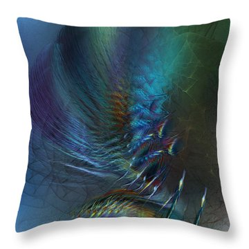 Dancing With The Wind-abstract Art Throw Pillow