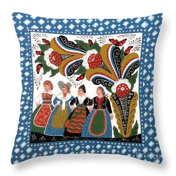 Dancing Women Throw Pillow by Leif Sodergren