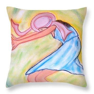 Dancy Nancy Throw Pillow