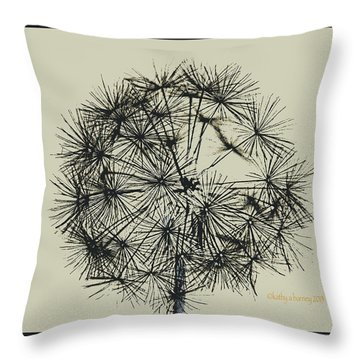 Throw Pillow featuring the photograph Dandelion 6 by Kathy Barney