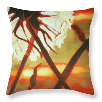 Dandelion At Last Light Throw Pillow