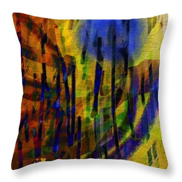 Dandelion Blues Throw Pillow by Mimulux patricia no No