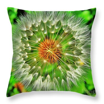 Dandelion Circle Throw Pillow