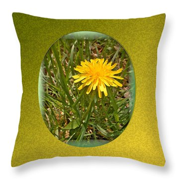 Dandelion Daisy Throw Pillow by Patricia Keller