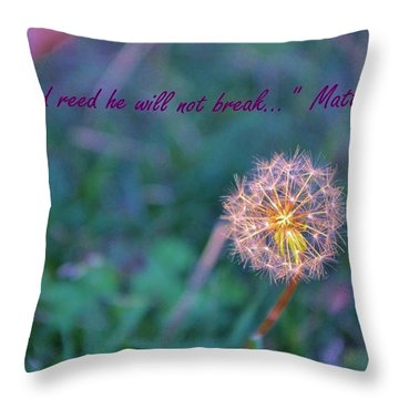 Dandelion Encouragement Throw Pillow
