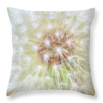 Dandelion Throw Pillow by Ester  Rogers