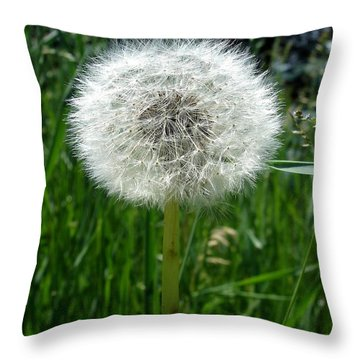 Dandelion Fluff Throw Pillow