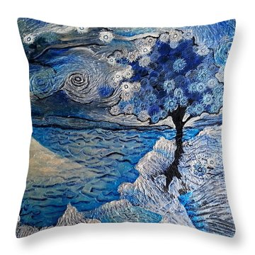 Dandelion From A Wishbrush Tree Into Space Throw Pillow