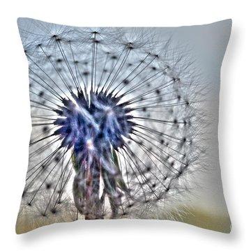 Dandelion Glow Throw Pillow
