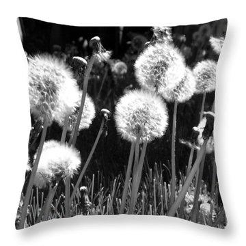 Dandelion Group Throw Pillow