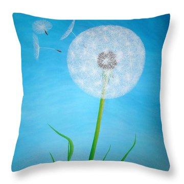 Dandelion In The Summer Throw Pillow by Sven Fischer