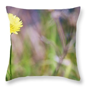 Dandelion Throw Pillow by Lorri Crossno