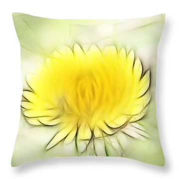 Dandelion Throw Pillow by Michal Boubin