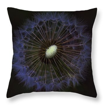 Dandelion Nebula Throw Pillow by Kathy Clark