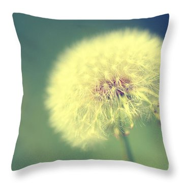 Dandelion Seed Head Throw Pillow by Karen Slagle