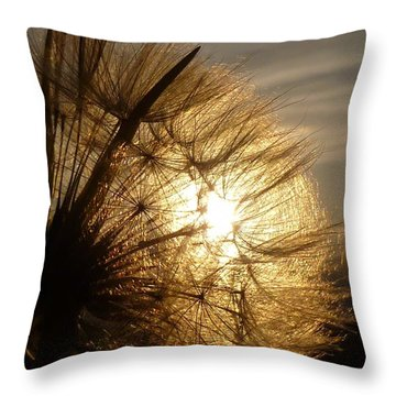 Dandelion Sunset Throw Pillow