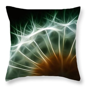 Dandelion Throw Pillow by ISAW Gallery