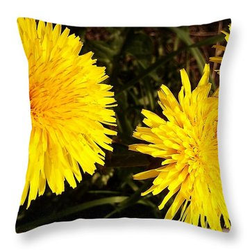 Throw Pillow featuring the photograph Dandelion Weeds? by Martin Howard