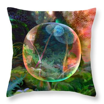 Throw Pillow featuring the painting Dandelion Wine by Robin Moline