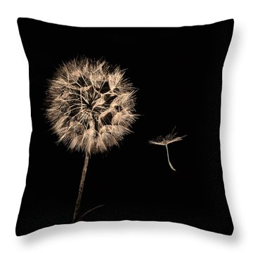 Dandelion With Seed Throw Pillow