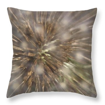 Dandillion Seed Head Throw Pillow