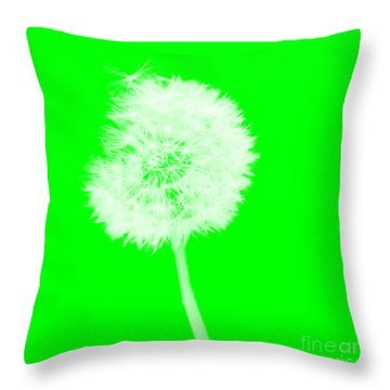 Throw Pillow featuring the digital art Dandylion Green by Clayton Bruster