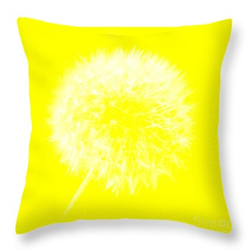Throw Pillow featuring the digital art Dandylion Yellow by Clayton Bruster