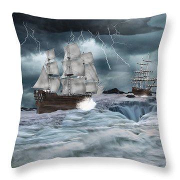 Danger Ahead Throw Pillow by Davandra Cribbie