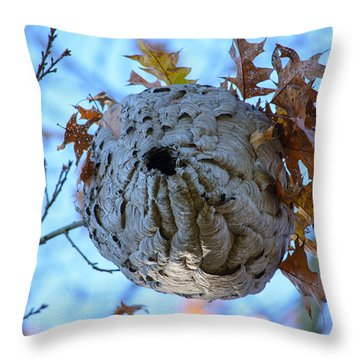 Throw Pillow featuring the photograph Danger Zone by Tikvah's Hope