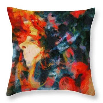 Throw Pillow featuring the painting Dangerous Passion by Joe Misrasi