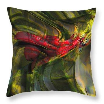 Throw Pillow featuring the digital art Dangerous by Richard Thomas