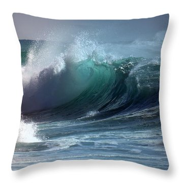 Dangerous Surf Throw Pillow