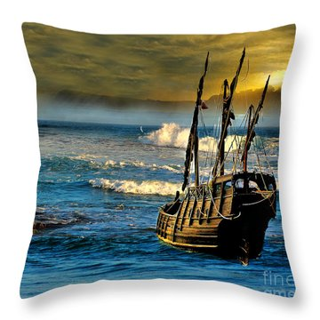 Dangerous Waters Throw Pillow by Blair Stuart