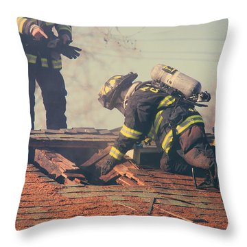Dangerous Work Throw Pillow by Laurie Search