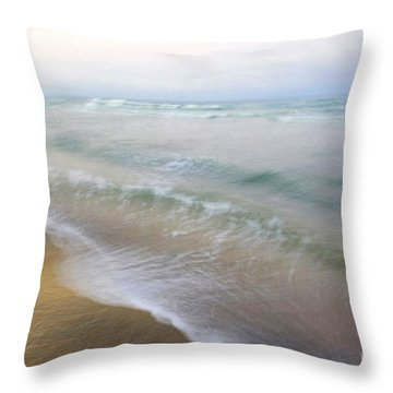 Dania Beach Throw Pillow by Glennis Siverson