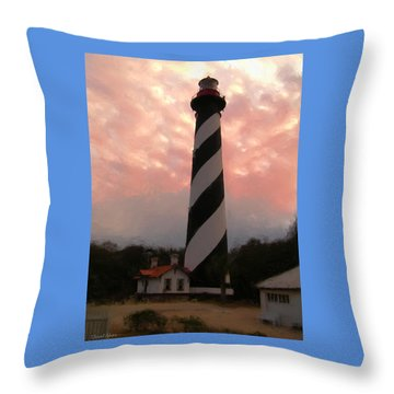 Da127 St. Augustine Lighthouse By Daniel Adams Throw Pillow