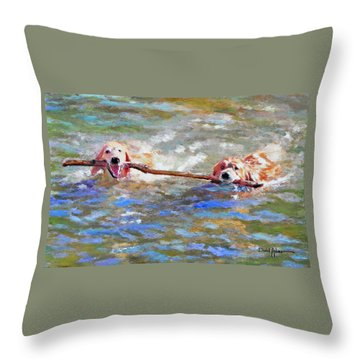 Da152 Sticking Together By Daniel Adams Throw Pillow
